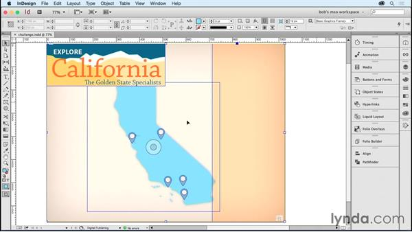 Challenge: Adding navigation and editing objects: Developing Multistate Objects in InDesign