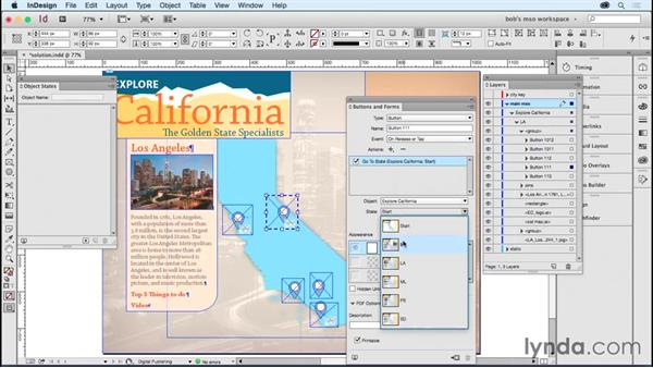 Solution: Adding navigation and editing objects: Developing Multistate Objects in InDesign