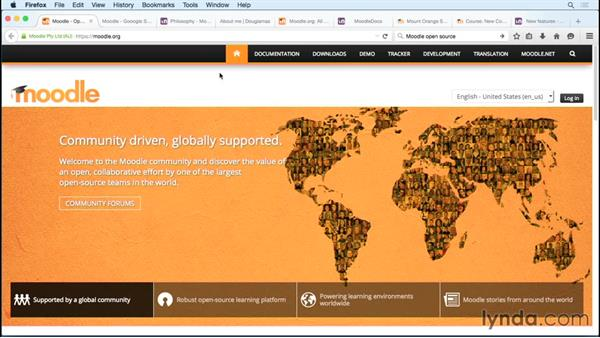Overview of the Moodle LMS