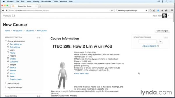 Using the in-line help system: Moodle 2.8 Essential Training