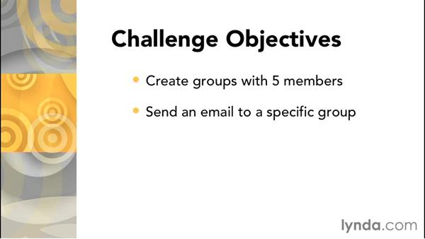 Challenge: Work with groups in Moodle: Moodle 2.8 Essential Training