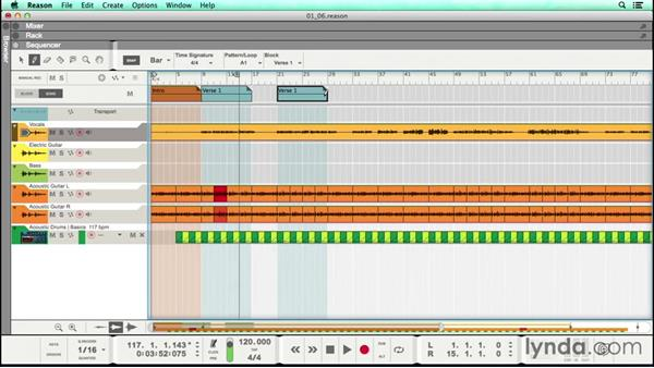 Recording a scratch vocal and labeling your song sections: Songwriting in Reason