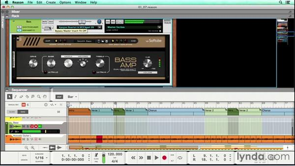 Recording a bass track: Songwriting in Reason