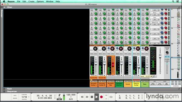 Adding textural elements to the arrangement with guitar: Songwriting in Reason
