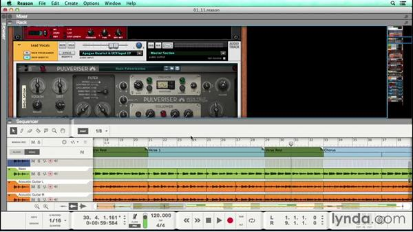Creating a rough mix, part 1: Vocal pitch correction and panning: Songwriting in Reason