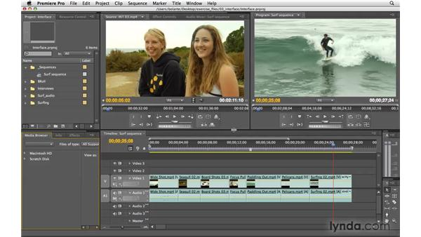 Using the interface: Premiere Pro CS4 Essential Training