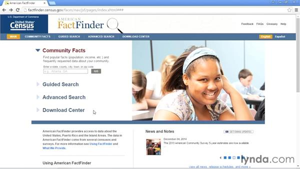 American FactFinder: Up and Running with Public Data Sets