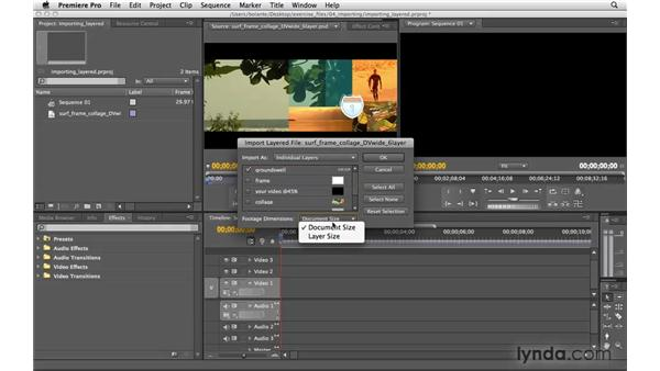 Importing layered Photoshop and Illustrator files: Premiere Pro CS4 Essential Training