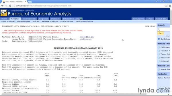 U.S. Bureau of Economic Analysis: Up and Running with Public Data Sets