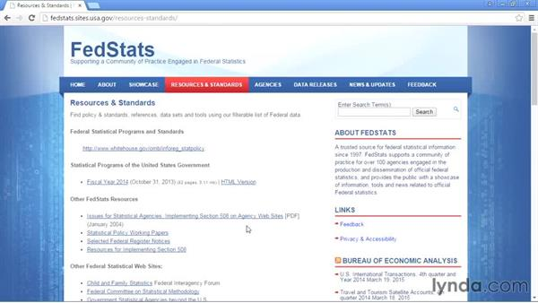FedStats: Up and Running with Public Data Sets