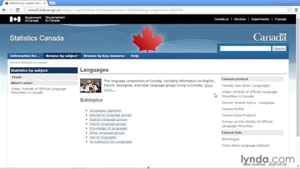 Government of Canada Open Government Portal: Up and Running with Public Data Sets