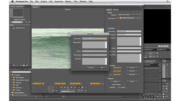 Logging tapes: Premiere Pro CS4 Essential Training