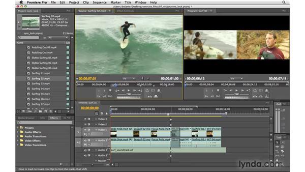 Using Sync Lock: Premiere Pro CS4 Essential Training