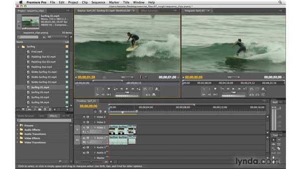 Editing source clips vs. sequence clips: Premiere Pro CS4 Essential Training