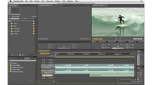 Using tracks: Premiere Pro CS4 Essential Training
