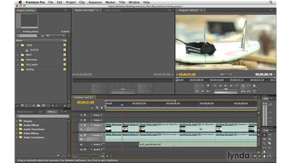 Moving clips: Premiere Pro CS4 Essential Training