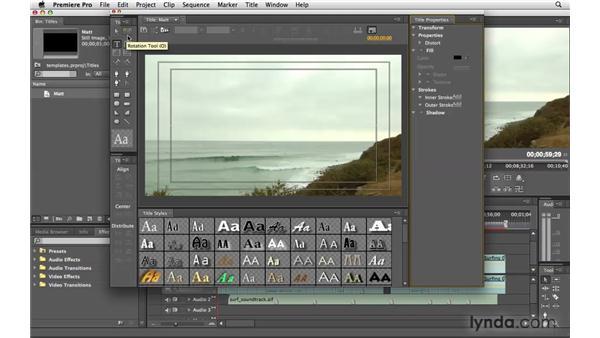 Using the Titler: Premiere Pro CS4 Essential Training