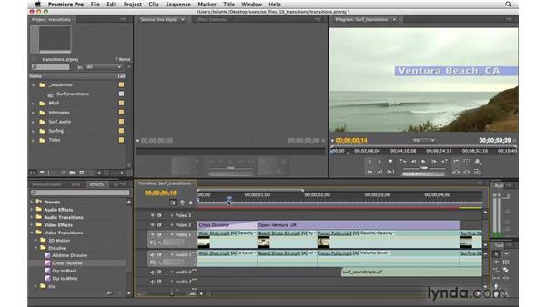 Adding a transition: Premiere Pro CS4 Essential Training
