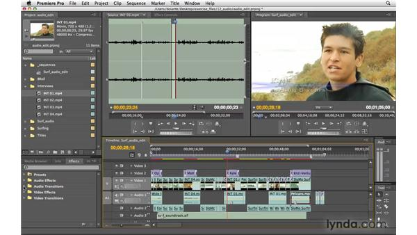 Editing audio: Premiere Pro CS4 Essential Training