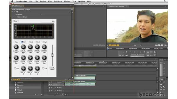 Using audio effects: Premiere Pro CS4 Essential Training