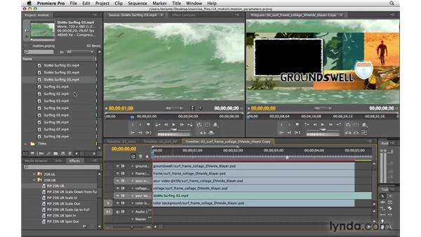 Applying motion parameters: Premiere Pro CS4 Essential Training