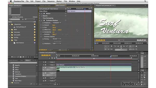 Animating effects: Premiere Pro CS4 Essential Training
