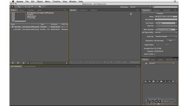 Exporting to Encore DVD: Premiere Pro CS4 Essential Training