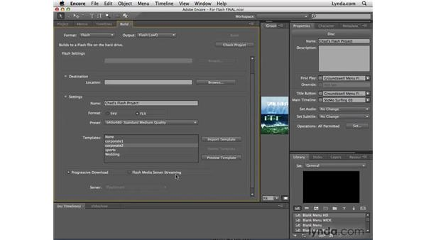 Creating streaming video: Encore CS4 New Features
