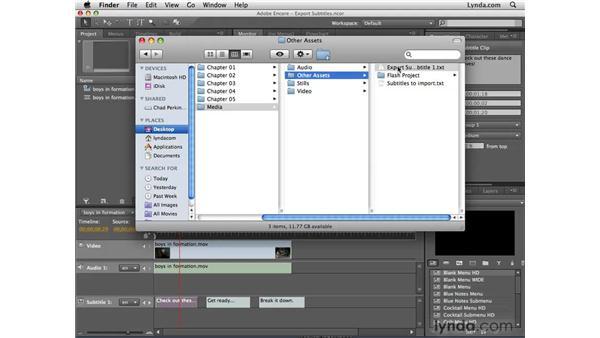 Exporting subtitles: Encore CS4 New Features