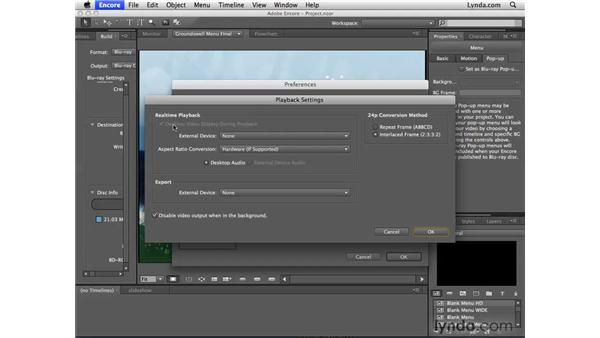 FireWire video preview: Encore CS4 New Features