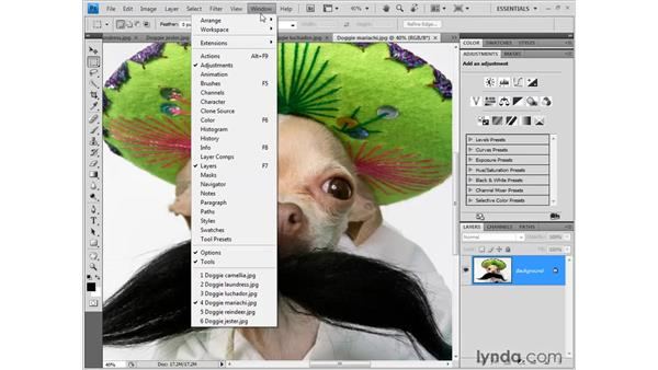 The new tabbed window interface: Photoshop CS4 New Features
