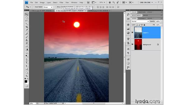 Dragging and dropping between tabs: Photoshop CS4 New Features