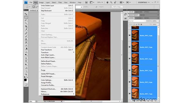 Blending depths of field: Photoshop CS4 New Features