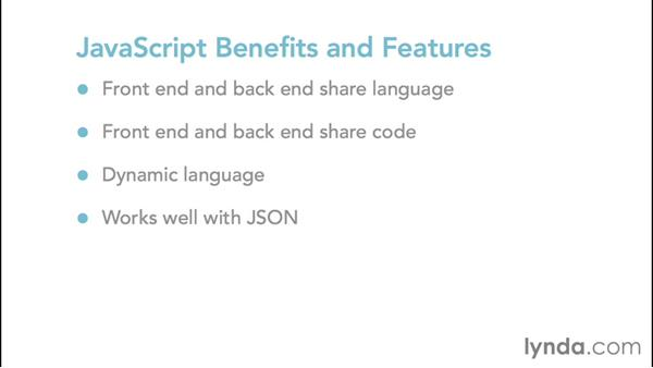 JavaScript benefits and features: Up and Running with Node.js