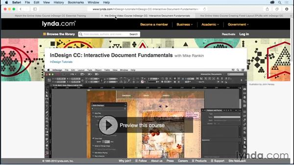 What you should know before watching this course: Creating Animations with Adobe InDesign CC