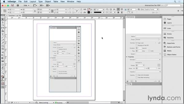 Setting up an animation workspace: Creating Animations with Adobe InDesign CC