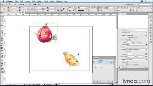 Exploring the complex animation presets: Creating Animations with Adobe InDesign CC