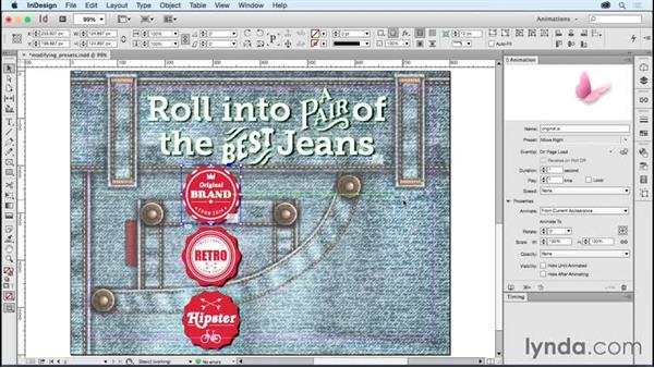Modifying animation presets: Creating Animations with Adobe InDesign CC