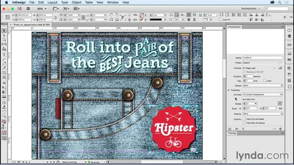 Understanding from/to appearance: Creating Animations with Adobe InDesign CC
