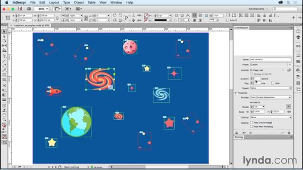 Working with rotation: Creating Animations with Adobe InDesign CC