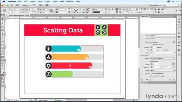Modifying scaling properties: Creating Animations with Adobe InDesign CC