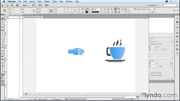 Understanding motion path direction: Creating Animations with Adobe InDesign CC