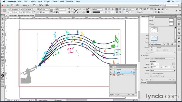 Copying motion paths: Creating Animations with Adobe InDesign CC