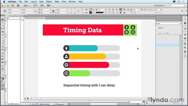 Using Timing panel delays: Creating Animations with Adobe InDesign CC