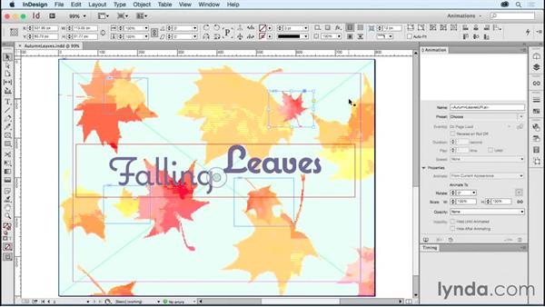 Applying multiple animations to one object: Creating Animations with Adobe InDesign CC