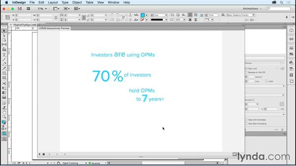 Animating type: Digital flip sign: Creating Animations with Adobe InDesign CC