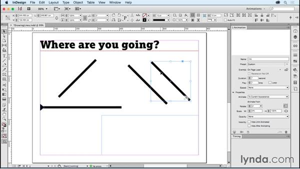 Creating lines that draw: Creating Animations with Adobe InDesign CC