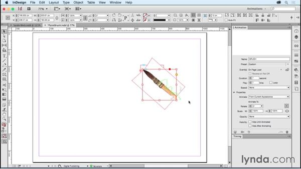 Drawing with objects: Creating Animations with Adobe InDesign CC