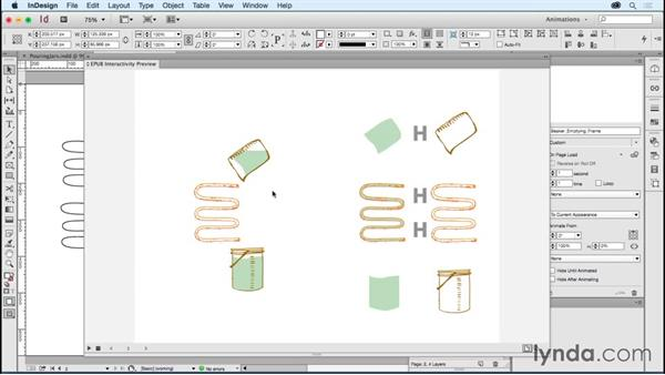 Filling jars and other containers: Creating Animations with Adobe InDesign CC