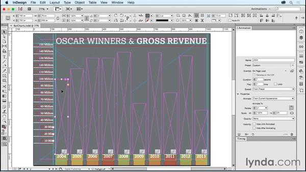 Animating infographics: Bar charts: Creating Animations with Adobe InDesign CC